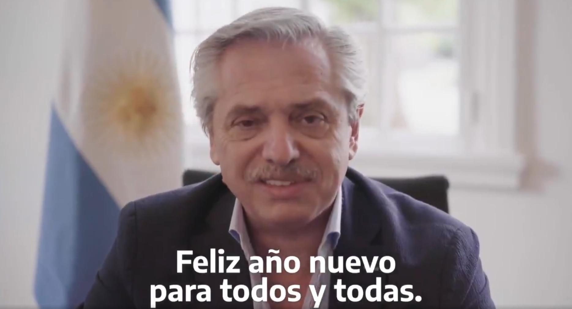 mensaje de Alberto Fernández