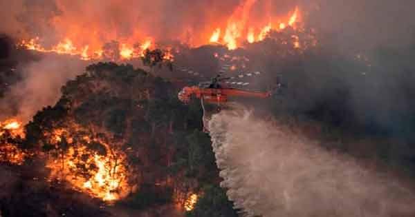 fuego en australia