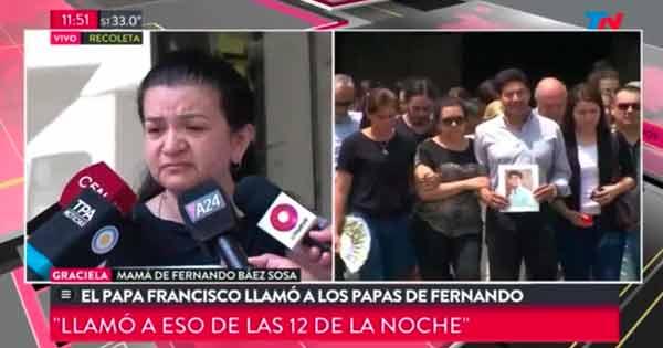 La mamá de Fernando Sosa