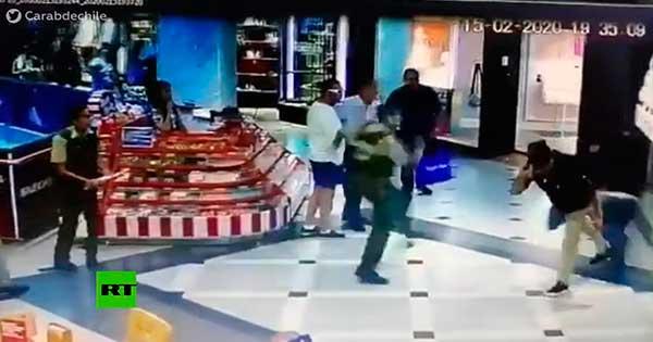 robo en un centro comercial