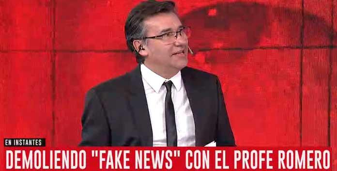 El Profe Romero desarmo otra fake news