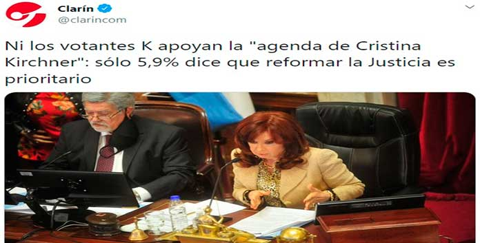 ni los K apoyan la agenda Cristina