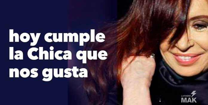 emotivos saludos a Cristina