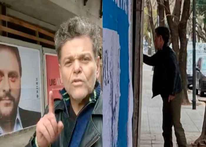 Alfredo Casero vandalizando